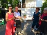 Gail and Jean Norton meeting Joy Road staff and La Stella wine maker Severine Pinte