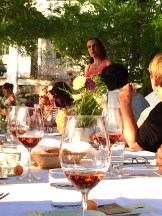 Lighting up the table with wine from LaStella photo - Karen Anderson