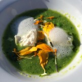 English Pea Gazpacho - photo - Karen Anderson