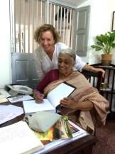 with Mrs. Meena at The Bangala in Chettinad - photo - Naddine Maddel - Morgan