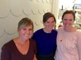 Laura Christenson, Carolyn McIntyre-Jackson and Jodi Willoughby - photo - Karen Anderson