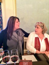 Connie Gianncoulis talking with Marinella Camerani of Corte Sant'Alda of Veneto - photo credit - Karen Anderson