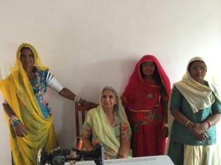 Seamstress group at Sunder Rang in Chandelao, Rajasthan - photo credit - Karen Anderson