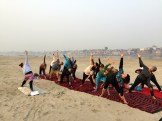 yoga on the Ganges - photo credit - Karen Anderson @savouritall