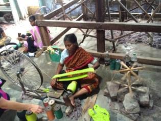 cotton spinning Madurai, India - photo credit - Karen Anderson
