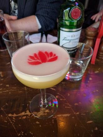 Return from India @ The Rook in Sydney CBD - Vodka, mango, peach liqueur, chai, lemon, egg white