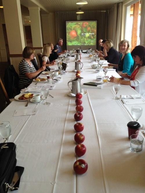 breakfast w the B.C. tree fruit growers