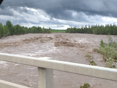 Thursday June 20 - 2013 Elbow River near Hwy 8 and 22 at Bragg Creek roundabout photo  - Cole Anderson
