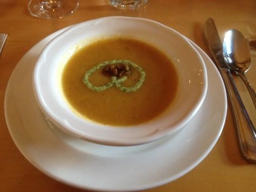 Hint of Ginger Squash Soup - Mt. Assiniboine Lodge photo - Karen Anderson