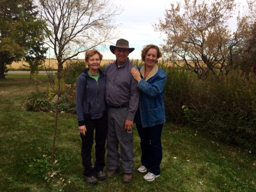 Corrine Dahm, Darrel Winter and me, Winter's Turkey Farm, Oct 2013 photo credit - Tilly Sanchez