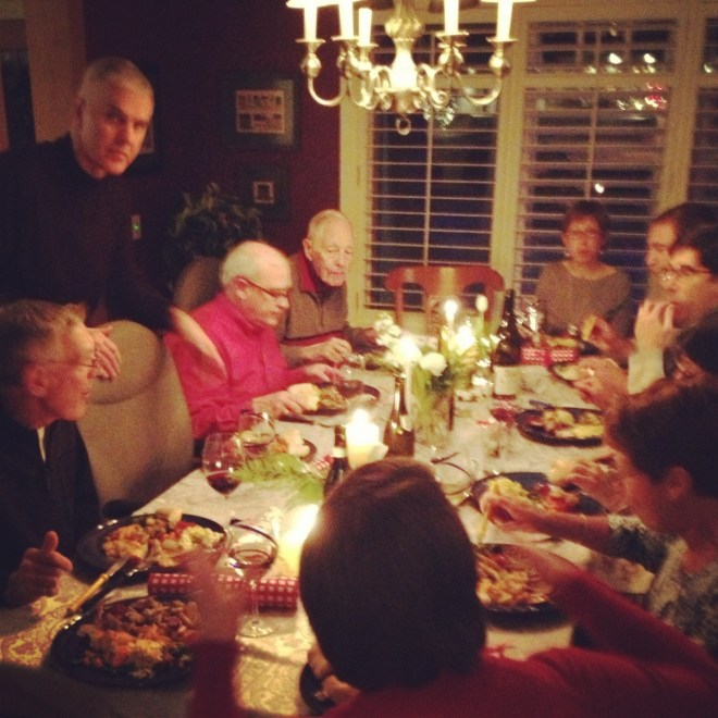 I can squeeze 12 around my table and that makes for a very cozy gathering. I care for that. photo - Karen Anderson