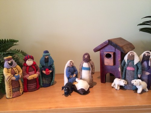 handmade family heirloom manger set - there's just some decorations you never tire of photo - Karen Anderson