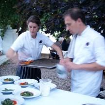 Dana Ewart & Cameron Smith in action at their Al Fresco Vineyard Dinners in Penticton, B.C. - Summer 2013 Photo - Karen Anderson
