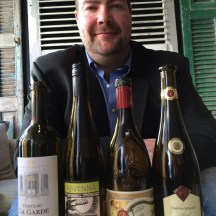 Richmond Hill Wines' Dave Amadio with his winning wines photo - Karen Anderson