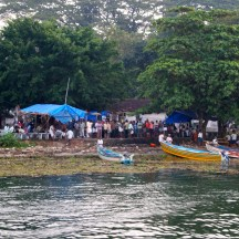Returning to Kochi's shoreline fish market - photo - Karen Anderson
