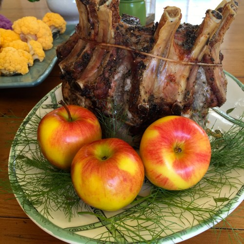 Apples are always a nice accent for pork - photo - Karen Anderson