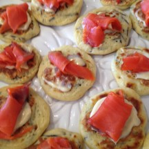 smoked salmon on blini - photo - Karen Anderson