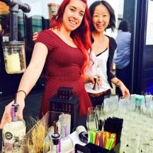 Clarice Gordon and Christina Mah of Hotel Arts - photo - Karen Anderson