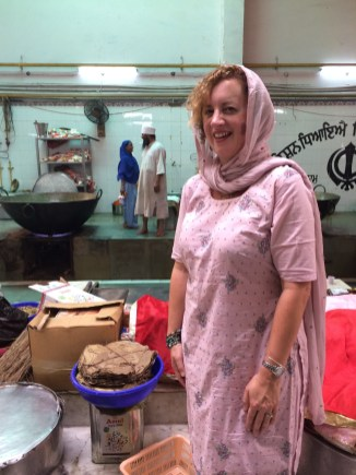 at a Sikh Langar (free food kitchen) in Delhi - photo - Pauli-Ann Carriere