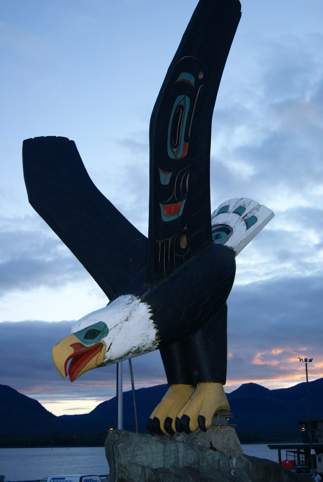 Native carvings in Alaska