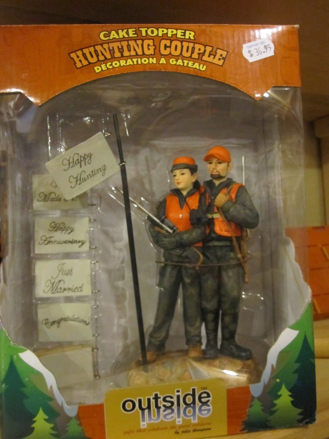 Hunting Couple Cake Topper
