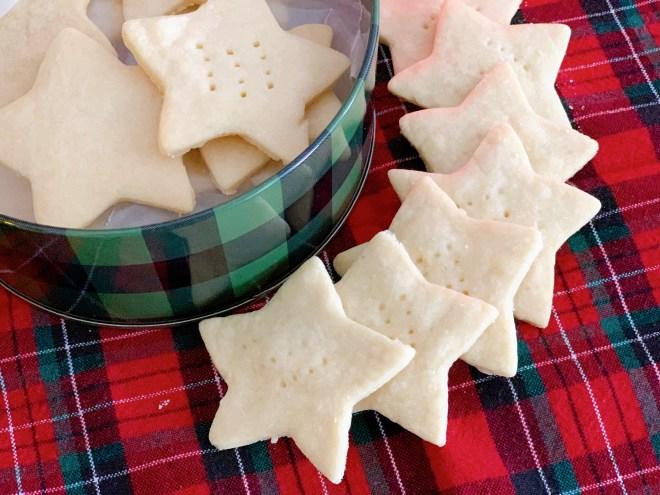 Shortbread Cookies- overhead view
