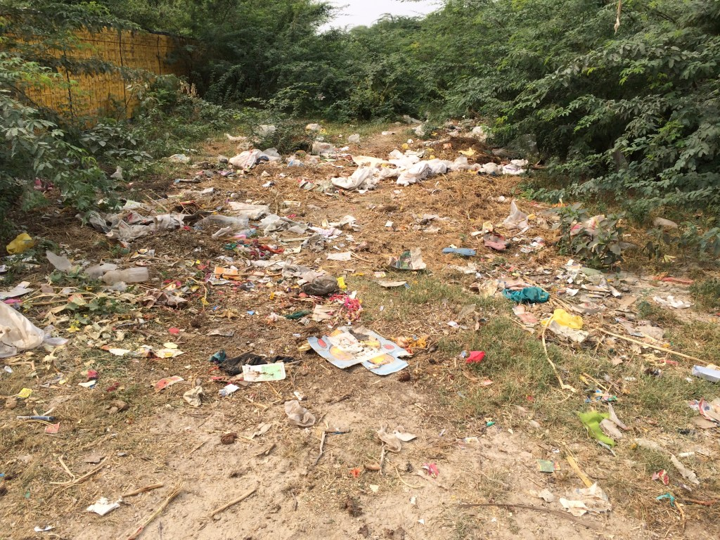 garbage disposal in India is a problem as it is everywhere - photo credit - Karen Anderson