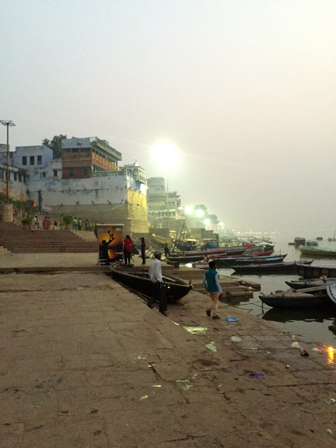 predawn at the Ganges in Varanasi - photo credit - Karen Anderson