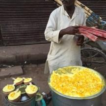 Snack walla in Varanasi - photo credit - Karen Anderson