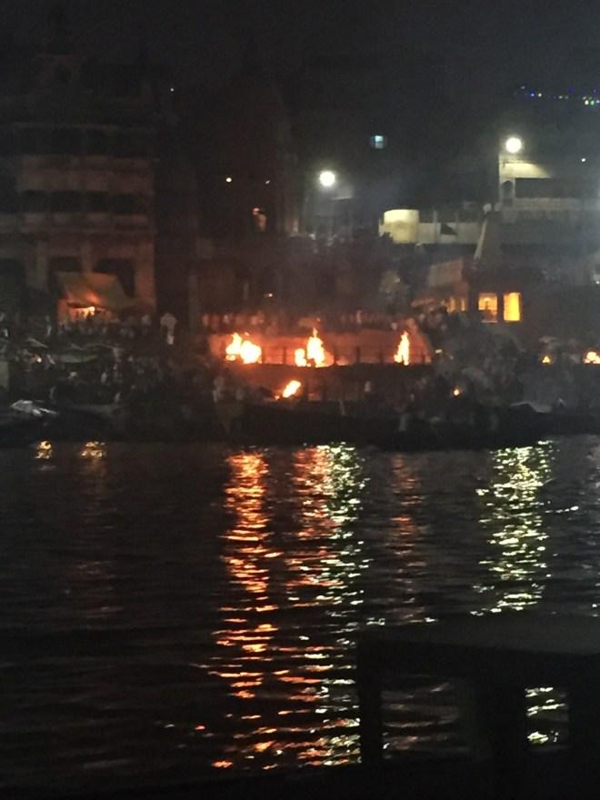funeral pyres in Varanasi - photo credit - Karen Anderson @savouritall