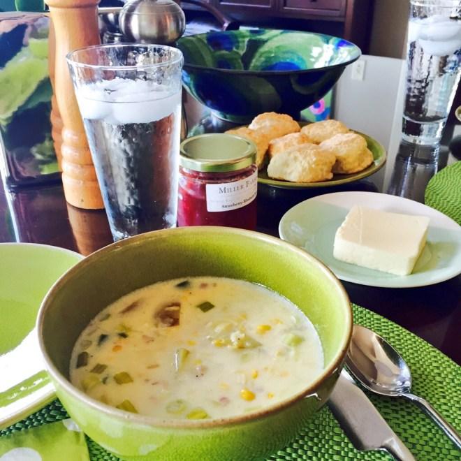 Zucchini Corn Chowder - photo credit - Karen Anderson - Savour It All blog