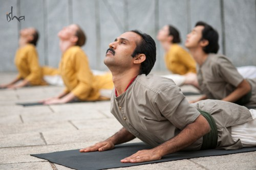 Isha yoga asanas workshop in Calgary