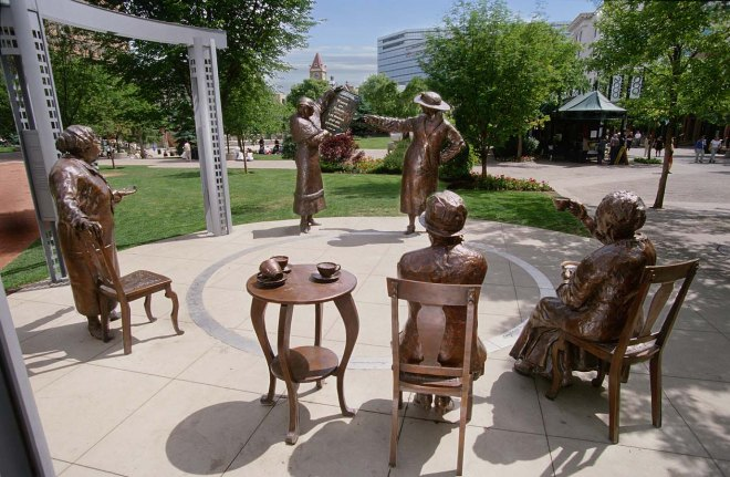 famous five statue in Calgary