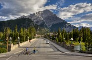 Banff Avenue in summer