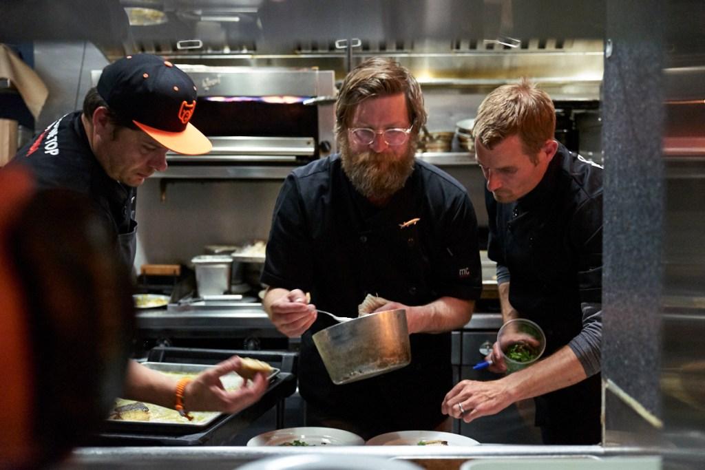 Flight Across The Top of Canada - chefs