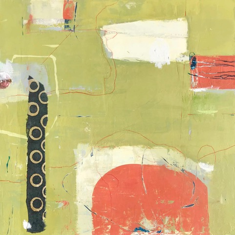 Felicity - an abstract painting by Louise Savoie