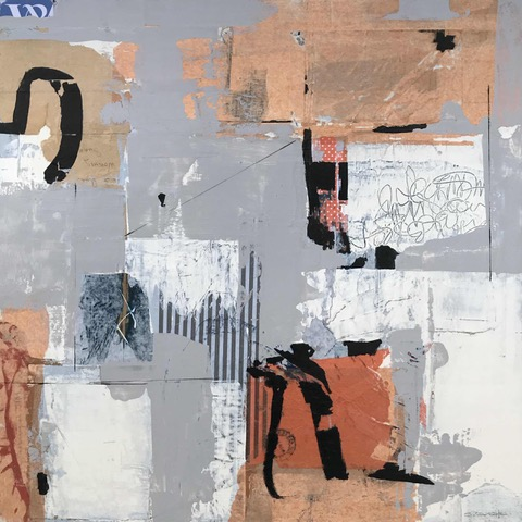 Cover Up - abstract painting by Louise Savoie