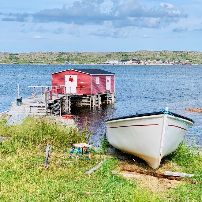 Punt boat and fishing stage, Fogo Island, Newfoundland and Labrador - photo by Karen Anderson