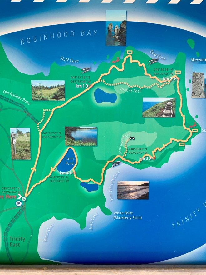 map of Skerwink Trail, NL