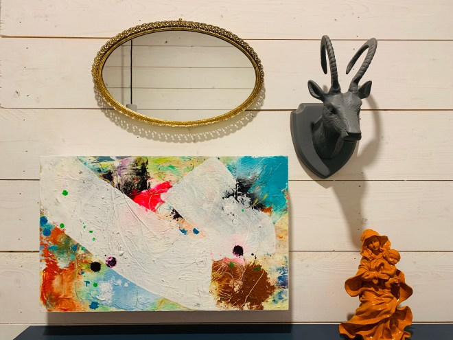 Quirky art is part of Bang Belly Cafe's charm