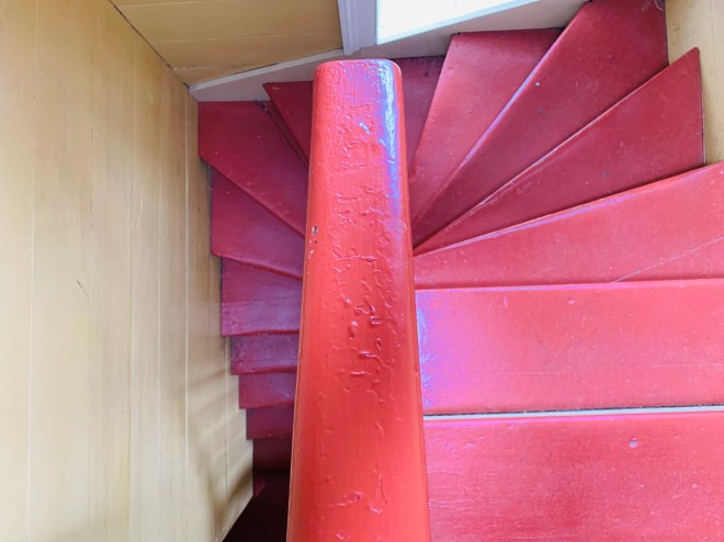 staircase in Cape Spear lighthouse