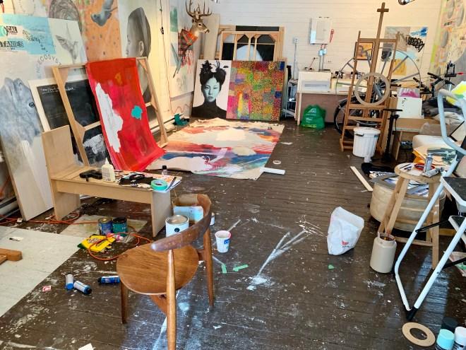 Interior of Bruce Pashak's art gallery - photo by Karen Anderson