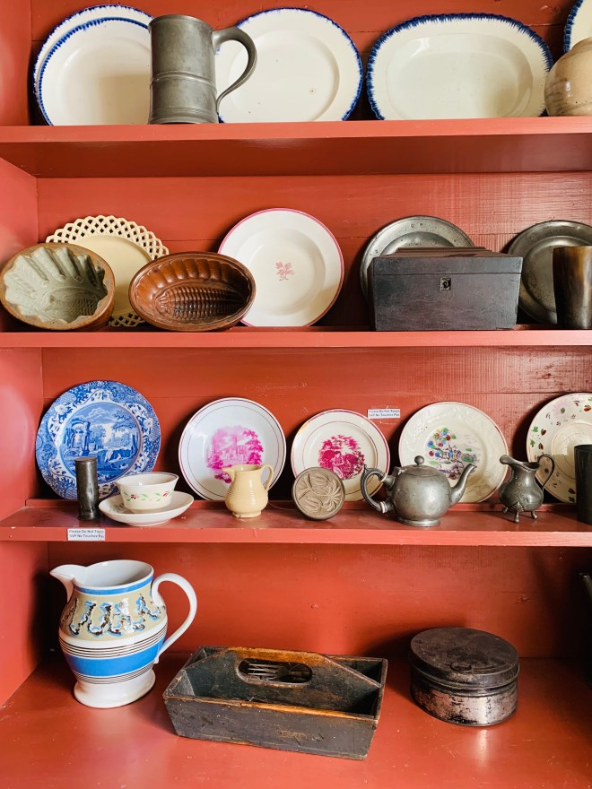antique china at Cape Spear lighthouse