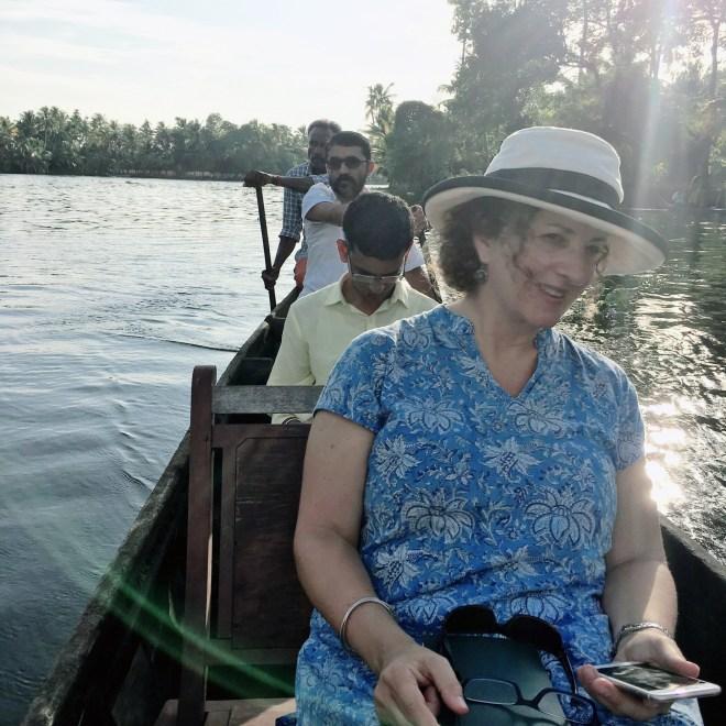 Writer Karen Anderson in India