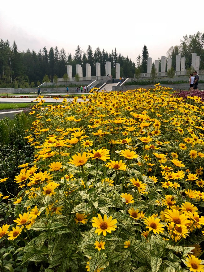 Aga Khan Garden at U of A Botanic Gardens - summer flowers
