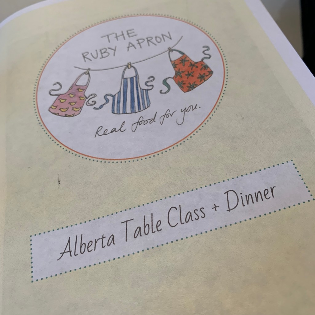 Recipe booklet for AWN Kitchen cooking school