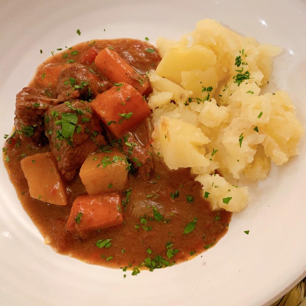 Bison stew at AWN Kitchen cooking school