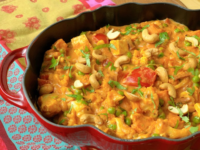 Roasted Cauliflower and Tofu Korma