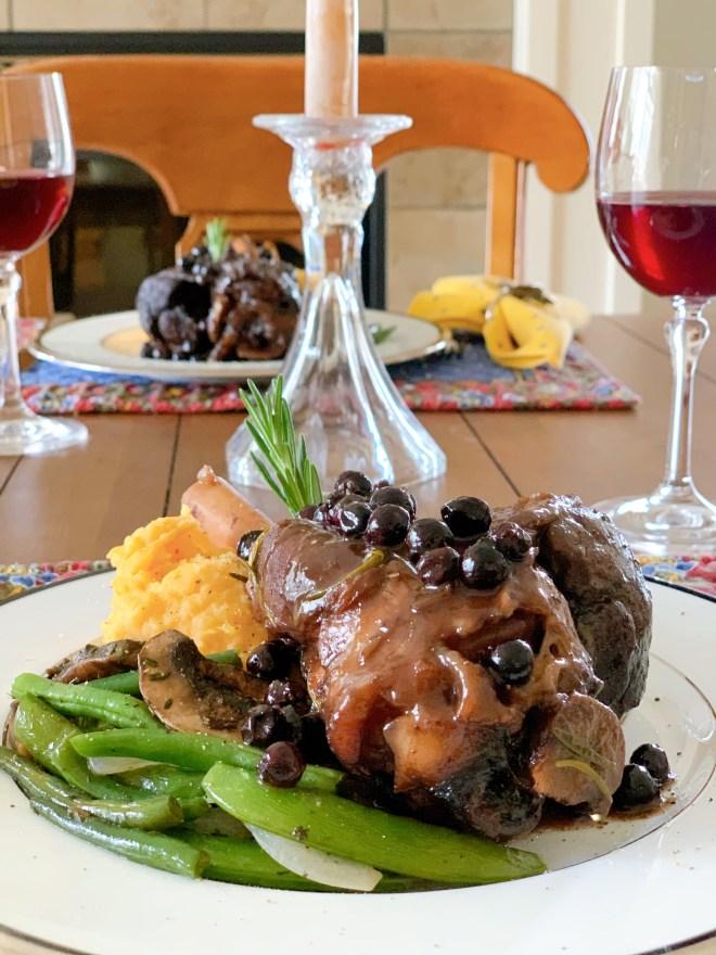 Lamb Shanks in Saskatoon Pinot Noir Sauce