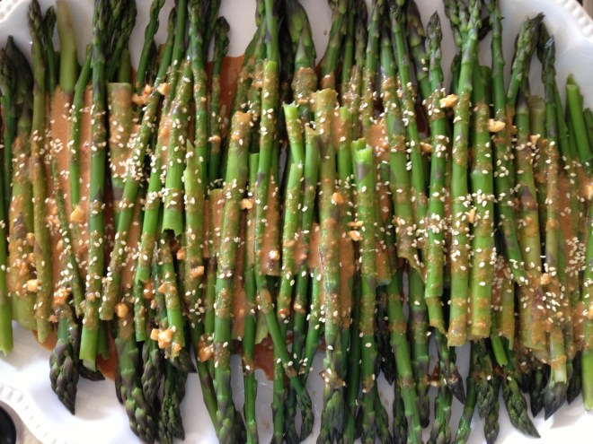 Cold Asparagus Salad with Sesame Dressing
